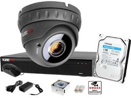 Monitoring ip keeyo zestaw full hd ir40m h265+ 1 kamera