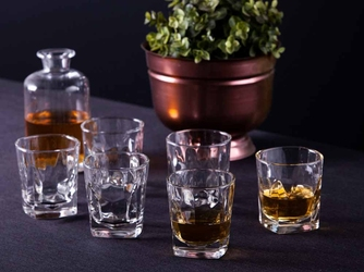 Szklanki do whisky hrastnik stephanie optic, komplet 6 szt. 280 ml