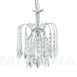 Waterfall lampa wisząca 1 chrom kryształ