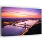Budapeszt, poranek nad dunajcem - obraz na płótnie wymiar do wyboru: 100x70 cm