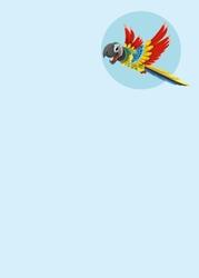Tablica suchościeralna dla dzieci papuga 469