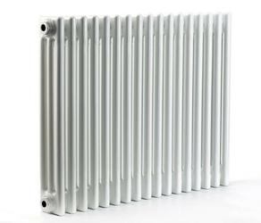 Grzejnik pokojowy retro - 3 kolumnowy, 600x1000, białyral - biały