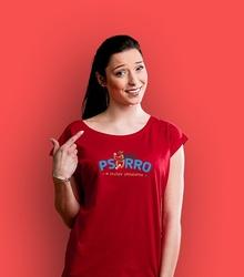 Psorro w służbie zwierzakom t-shirt damski czerwony xxl