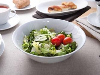 Salaterka  miska porcelanowa ćmielów feston złoty pasek 3604 15 cm