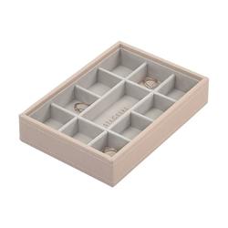 Pudełko na biżuterię 11 komorowe Mini Stackers jasnoróżowe