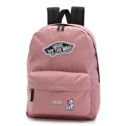 Plecak szkolny vans realm nostalgia rose - vn0a3ui6uxq custom marie kitten z haftowanym imieniem