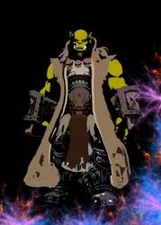 Blizzardverse stencils - thrall, the world shaman, warcraft - plakat wymiar do wyboru: 50x70 cm