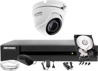 Zestaw do monitoringu hikvision hiwatch hwd-6104mh-g2, 1 x hwt-t120-m, 1tb, akcesoria