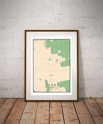 Ząbki mapa kolorowa - plakat wymiar do wyboru: 40x50 cm