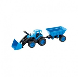 Mochtoys traktor spychacz z przyczepą na gumowych kołach