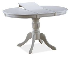 Okrągły stół rozkładany olivia bianco