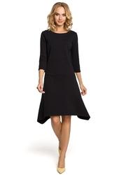 Prosta bawełniana sukienka na co dzień czarna m328