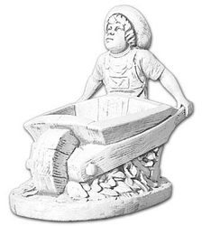 Donica - wazon w kształcie chłopca z taczką