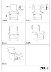 Komfortowy fotel wypoczynkowy zeus z wysuwanym podnóżkiem