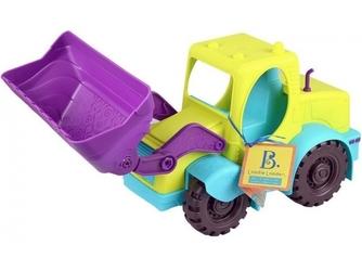 Duża zielona koparka zabawka do piasku