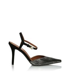 Złoto-czarne sandały