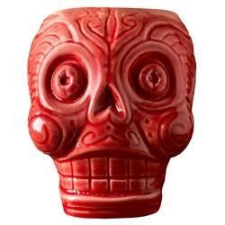 kubek tiki czerwona czaszka 500 ml