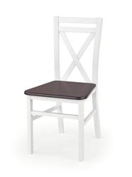 Krzesło kuchenne dariusz 2 białe ciemny orzech