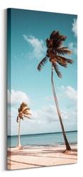 Palmy na plaży - obraz na płótnie