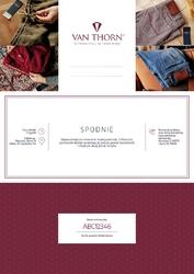 Karta podarunkowa na spodnie chino premium szyte na miarę van thorn voucher papierowy