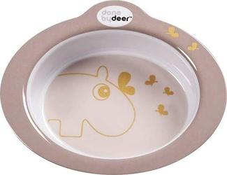 Miska antypoślizgowa Contour Done by Deer hipopotam różowa