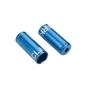 Końcówki pancerza hamulca clarks 5mm cnc aluminium niebieskie cp-b-01-dp