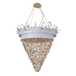 Ekskluzywna lampa wisząca do bardzo dużego salonu carmen regenbogen megapolis 394011432