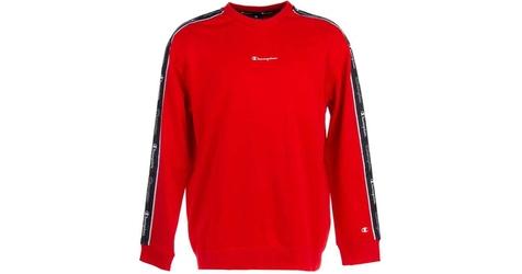 Champion crewneck sweatshirt 214224-rs046 s czerwony