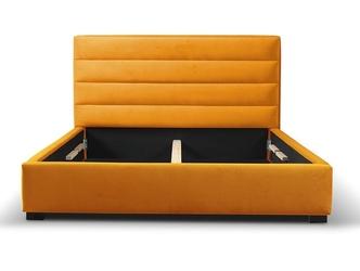 Tapicerowane łóżko do sypialni henrik 140x200 cm