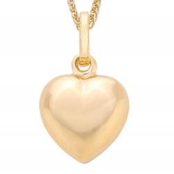 Love naszyjnik złoty serce małe