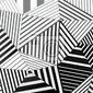 Naklejka tło czarne i białe paski trójkątów