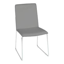 Krzesło kitos szarechromowane - szary