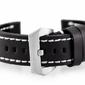 Pasek skórzany do zegarka w27 - premium - czarnybiałe - 22mm