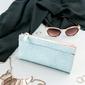 Portfel damski slim wallet niebieski milano design k1209 - niebieski