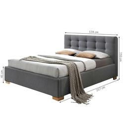 Łóżko tapicerowane stockholm 160x200 z pojemnikiem szare