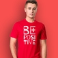 Be positive t-shirt męski czerwony s