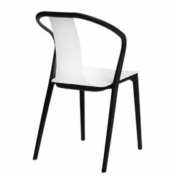 Krzesło bella czarnebiałe - biały