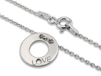 Naszyjnik ze srebra z kołem miłosnym