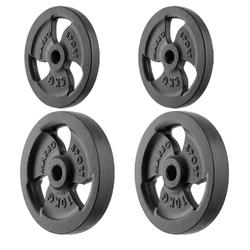 Zestaw obciążeń żeliwnych kierownica 30 kg  2 x 10 kg + 2 x 5 kg mw-2x10kg_2x5kg-kier - marbo sport - 2 x 5 kg, 2 x 10 kg