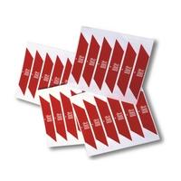 Nalepki ostrzegawcze na ramię szlabanu nice wa10 - 24 sztuki - szybka dostawa lub możliwość odbioru w 39 miastach