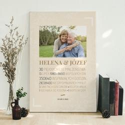 Obraz na płótnie prezent na rocznicę ślubu ze zdjęciem 30x40cm