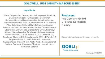 Goldwell just smooth 60 sec treatment, maska odbudowuje i wzmacnia włosy 500ml