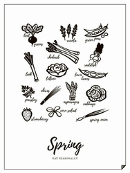 Plakat Spring - Eat Seasonally 21 x 30 cm