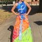Długa letnia sukienka z zwiewnego materiału 4128