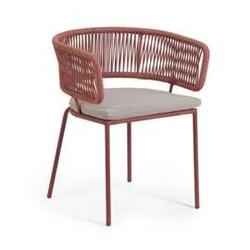 Krzesło ogrodowe adnia różowe