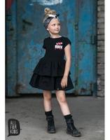 Czarna sukienka rock