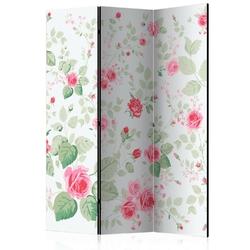 Parawan 3-częściowy - różane przyjemności room dividers