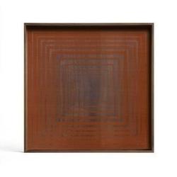 Ethnicraft :: taca dekoracyjna pumpkin squares kwadratowa czerwona rozm. l
