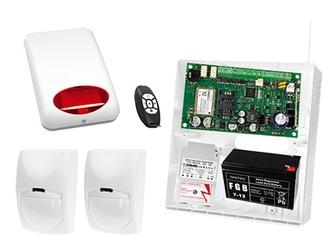 Bezprzewodowy pilot mpt-300 w systemie alarmowym + płyta główna micra  2x czujka bingo + sygnalizator zewnetrzny spl-5010 r + akcesoria
