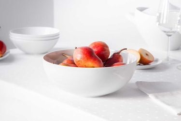 Salaterka  miska porcelana mariapaula moderna biała 25 cm okrągła
